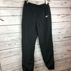 Reebok vintage black nylon track running pants